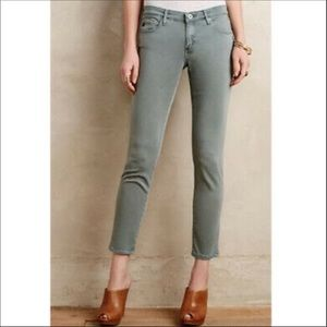 AG OLIVE Stevie Ankle Slim Straight Jeans 28R